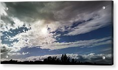 dramatic clouds V Acrylic Print by Nafets Nuarb