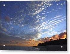 Dramatic Hawaiian Sky Acrylic Print by Vince Cavataio