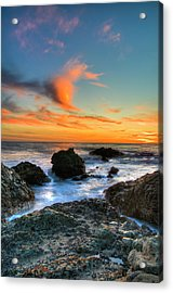 Dramatic Sunset Acrylic Print by Chasethesonphotography