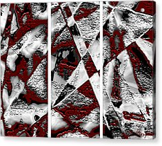 Dramatique Red Triptych Acrylic Print