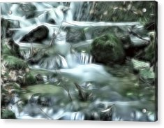 Acrylic Print featuring the digital art Dream Forest River by Odon Czintos