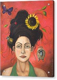 Dream Hair 2 Acrylic Print by Leah Saulnier The Painting Maniac