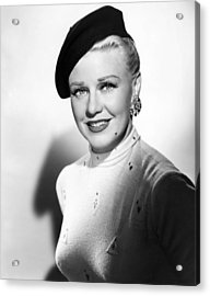 Dreamboat, Ginger Rogers, 1952 Acrylic Print by Everett