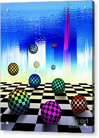 Acrylic Print featuring the digital art Dreaming Chess by Rosa Cobos