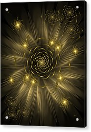 Dreaming Of Gold Acrylic Print