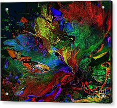 Dreamscape Abstract Number Five Acrylic Print by Doris Wood