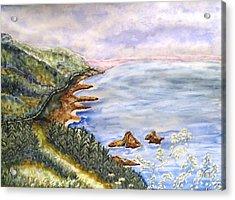 Dreamy Coast Acrylic Print by DJ Laughlin