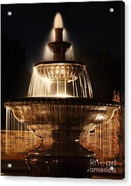 Dreamy Fountain Acrylic Print by Val Armstrong