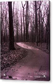 Dreamy Surreal Fantasy Woodlands Nature Path Acrylic Print by Kathy Fornal