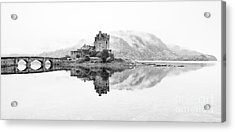 Dreich Morning At Eilean Donan Castle Acrylic Print by Janet Burdon