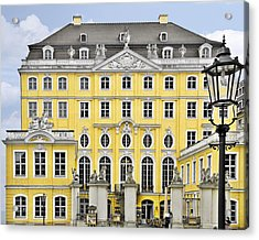 Dresden Taschenberg Palace - Celebrate Love While It Lasts Acrylic Print by Christine Till