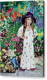 Dress Up In The Garden Acrylic Print