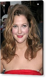 Drew Barrymore At Talk Show Appearance Acrylic Print by Everett