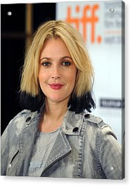 Drew Barrymore At The Press Conference Acrylic Print by Everett