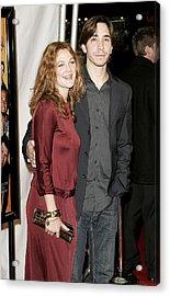 Drew Barrymore Wearing A Gucci Dress Acrylic Print by Everett