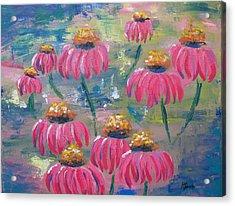 Drifting Flowers Acrylic Print