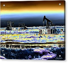 Drilling For Black Gold Acrylic Print by Diana Haronis