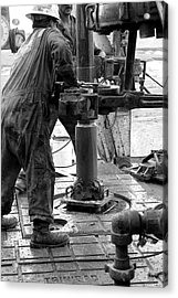 Drilling For Gold Acrylic Print by Jason Drake