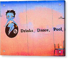 Drink Dance Pool Acrylic Print