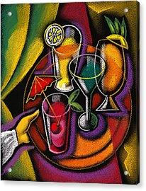 Drinks Acrylic Print by Leon Zernitsky