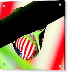 Drip Of America  Acrylic Print