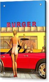 Drive-in Acrylic Print by John Edwards