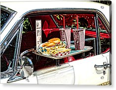 Drive-in Acrylic Print by Rudy Umans