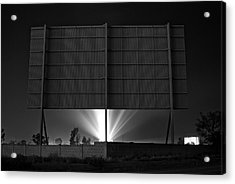 Drive-in Theater - After The Dust Storm Acrylic Print by Nick Florio
