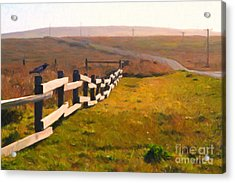 Driving Down The Lonely Highway . Study 1 . Painterly Acrylic Print by Wingsdomain Art and Photography