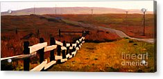 Driving Down The Lonely Road . Long Version Acrylic Print by Wingsdomain Art and Photography