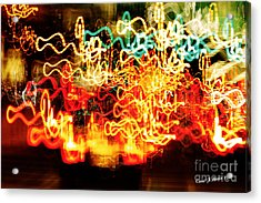 Painting With Light  Home For The Holidays Acrylic Print by Carol F Austin