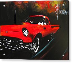 Driving In The Fall Acrylic Print by Jeff Hunter