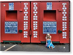 Acrylic Print featuring the photograph Drop Box by Steven Richman