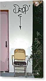 Drop Acrylic Print by Gwyn Newcombe