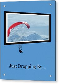 Dropping In Hang Glider Acrylic Print by Cindy Wright