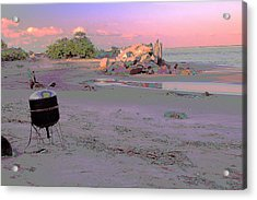 Drum On Beach Acrylic Print