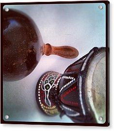 #drum #primitive #jungle #skin Acrylic Print