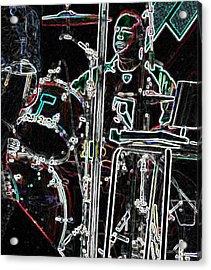 Drummer Acrylic Print by David Alvarez