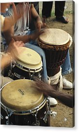 Drummers Of Varied Backgrounds Join Acrylic Print by Stephen St. John