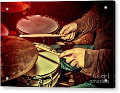 Acrylic Print featuring the photograph Drumming by Kim Wilson