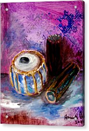 Acrylic Print featuring the painting Drums 4 by Amanda Dinan