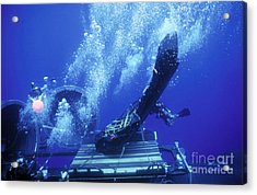 Dry Deck Shelter Rewmen Release Acrylic Print by Michael Wood