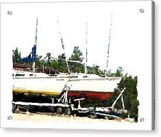 Dry Dock Acrylic Print by Brenda Leedy