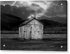 Dry Storm Acrylic Print by Ron Jones
