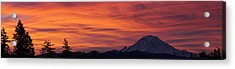 Dsc03437 - January Sunrise Pan Acrylic Print by Shirley Heyn