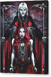 Dual Vampires Acrylic Print by Rick Ritchie