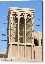 Acrylic Print featuring the photograph Dubai Wind Tower by Steven Richman