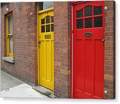 Acrylic Print featuring the photograph Dublin Doors by Arlene Carmel