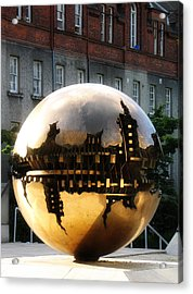 Acrylic Print featuring the photograph Dublin Trinity College Sculpture by David Harding