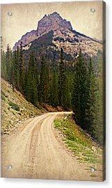 Dubois Mountain Road Acrylic Print by Marty Koch